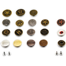 5Pcs/Set Metal Gold Silver Jeans Buttons High Quality Bronze Tone Mixed Button Clothing Accessories Drop Shipping