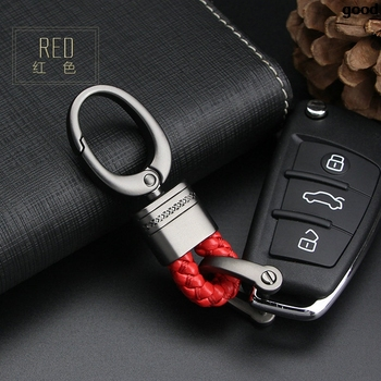 Leather Car Key Ring Keychain Keyring Key Holder for Mercedes W203 BMW E39 E36 E90 F30 F10 Volvo XC60 S40 Audi A4 A6 Accessories image