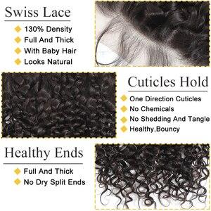 Image 5 - Vrvogue cheveux préplumés brésilien vague deau frontale couleur naturelle Remy cheveux humains 13x6 oreille à oreille dentelle fermeture frontale