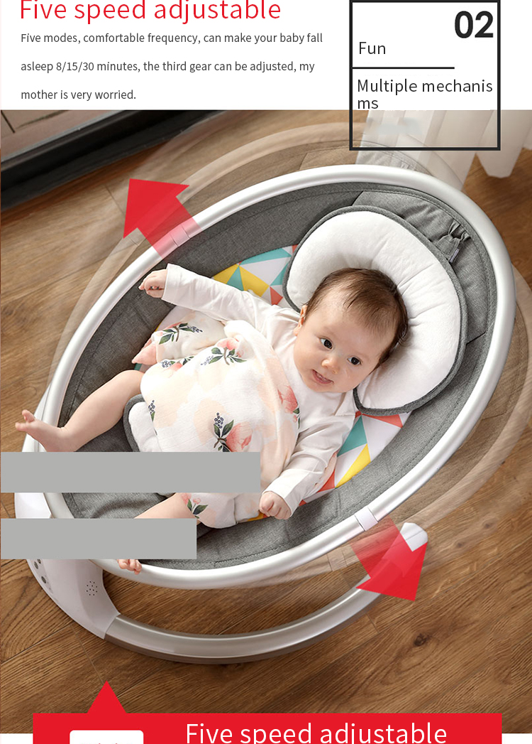 H4a8b96cfbd0f4c7788bc417bbfb4f841C Baby rocking chair newborn shaker baby electric cradleartifact with sleeping comfort