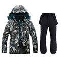 Водонепроницаемая куртка для мужчин  лыжный костюм  мужская куртка для сноуборда  Мужская лыжная одежда  мужские спортивные куртки Плюс  ве...