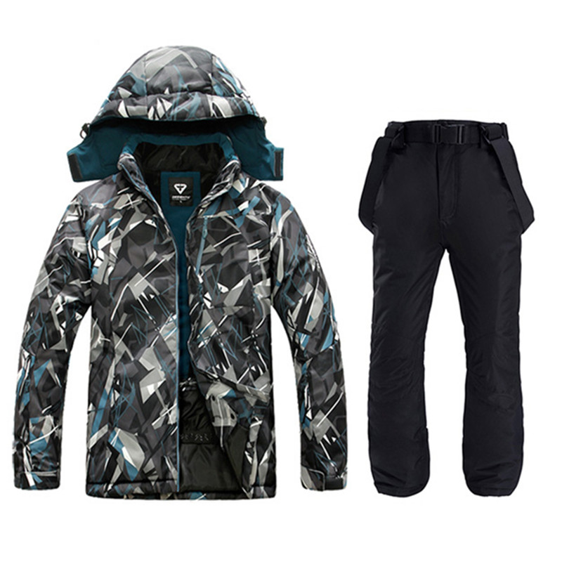 Waterproof Jacket For Men Ski Suit  Men Snowboard Jacket Male Ski Clothing Male Sports Jackets Plus Windproof Men Jacket