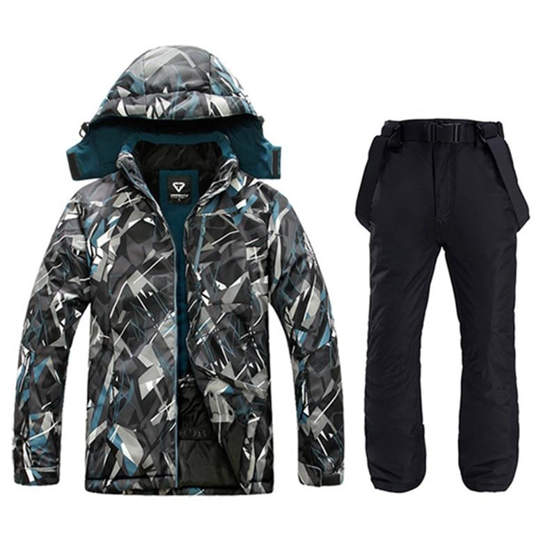 Waterproof Jacket For Men Ski Suit  Men Snowboard Jacket Male Ski Clothing Male Sports Jackets Plus Windproof Men Jacket