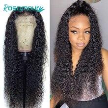 Perucas de cabelo humano da parte dianteira do laço para as mulheres negras onda de água hd perucas frontais do laço onda profunda fechamento completo do laço curto peruca encaracolada brasileira