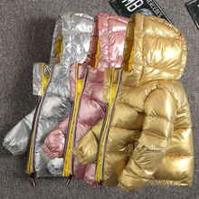CYSINCOS Boys Coats Winter Jacket Kids Down Cotton Coat Waterproof Snowsuit Pink Gold Silver Jacket Hooded Girls Down Coats(China)