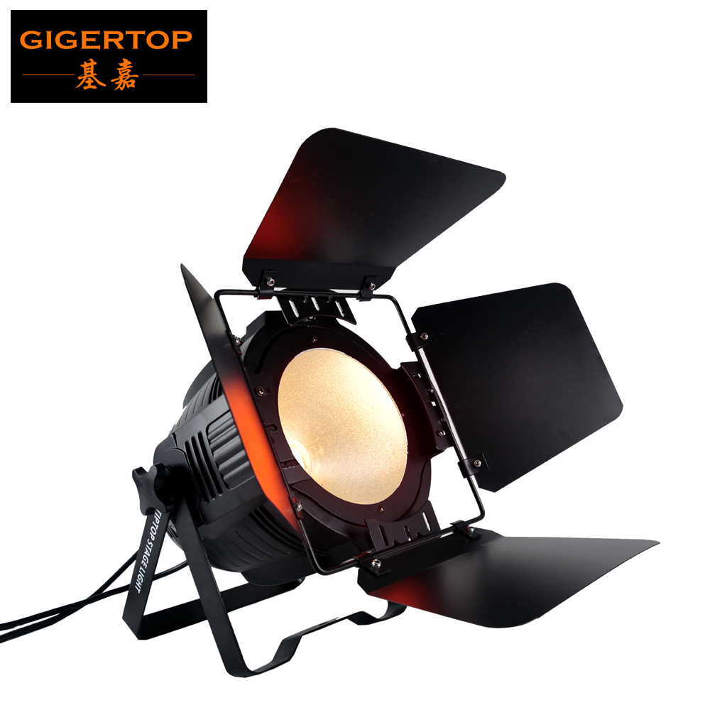 TIPTOP 200W COB Par Light LED Stage Light White DMX 512 Stage Lighting Effect DJ Bar Events Club Home Wedding Party Light
