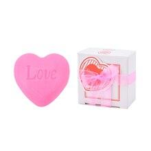 Горячая ручная работа любовь в форме сердца дизайн ванна мыло свадьба вечеринка любовь подарок валентинка подарок 1шт мыло