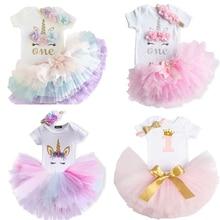 Детское платье для новорожденных девочек на 1-й день рождения