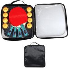 Table-Tennis-Rackets Paddles Ping-Pong Three-Star-Balls with 8pcs Racket-Set Bats Quality