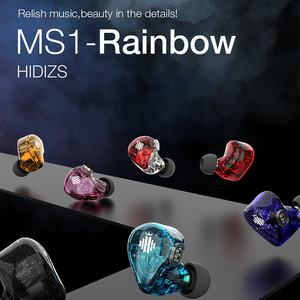 Image 4 - Hidizs MS1 Rainbow HiFi Audio Dynamic Diaphragm In Ear Monitor earphone IEM with Detachable Cable 2Pin 0.78mm Connector