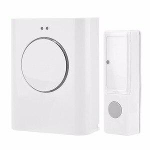 Image 1 - Sonnette étanche sans fil 433MHZ sonnette 200M à distance maison MP3 télécharger sans fil porte cloche anneau cloche