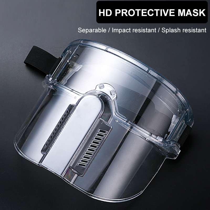 Protective Mask Transparent Safety Goggles Face Mask Windproof Dustproof Anti-splash High Strength PC Masks For Kitchen Working