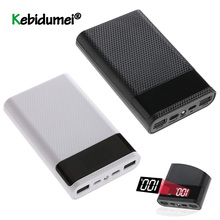 ล่าสุดDual USB Type C Power BankกรณีDIY 4X18650 โทรศัพท์มือถือ 15000MAhแบตเตอรี่กล่องจอแสดงผลLEDสมาร์ท