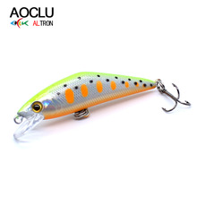 AOCLU Wobblers 8 Colors 50mm 5g Sinking Hard Bait Minnow Fishing Lure Tackle magnet weight transfer system for long Casting