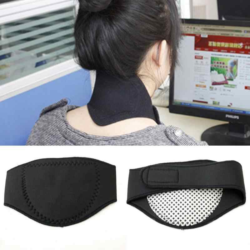 Nowa spontaniczna terapia magnetyczna poduszka podróżna pod szyję podkładka pod pas do masażu poduszka biurowa do utrzymywania ciepła działa przeciwbólowo