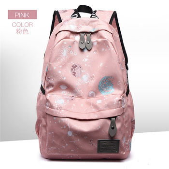 Fashion Starry Backpack Oxford Cloth High Capacity Student School Bag Multifunctional Outdoor Travel Backpack Unisex Zipper Bag new unisex oxford cloth backpack casual travel student backpack tote shoulder bag large capacity computer bag xz 205