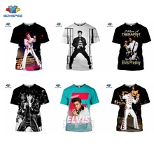 SONSPEE Popular Singer ELVIS Presley Men's T-Shirts King Of Rock 3D Print Summer Fashion Short-Sleeve TShirt Homme Women Gym Top