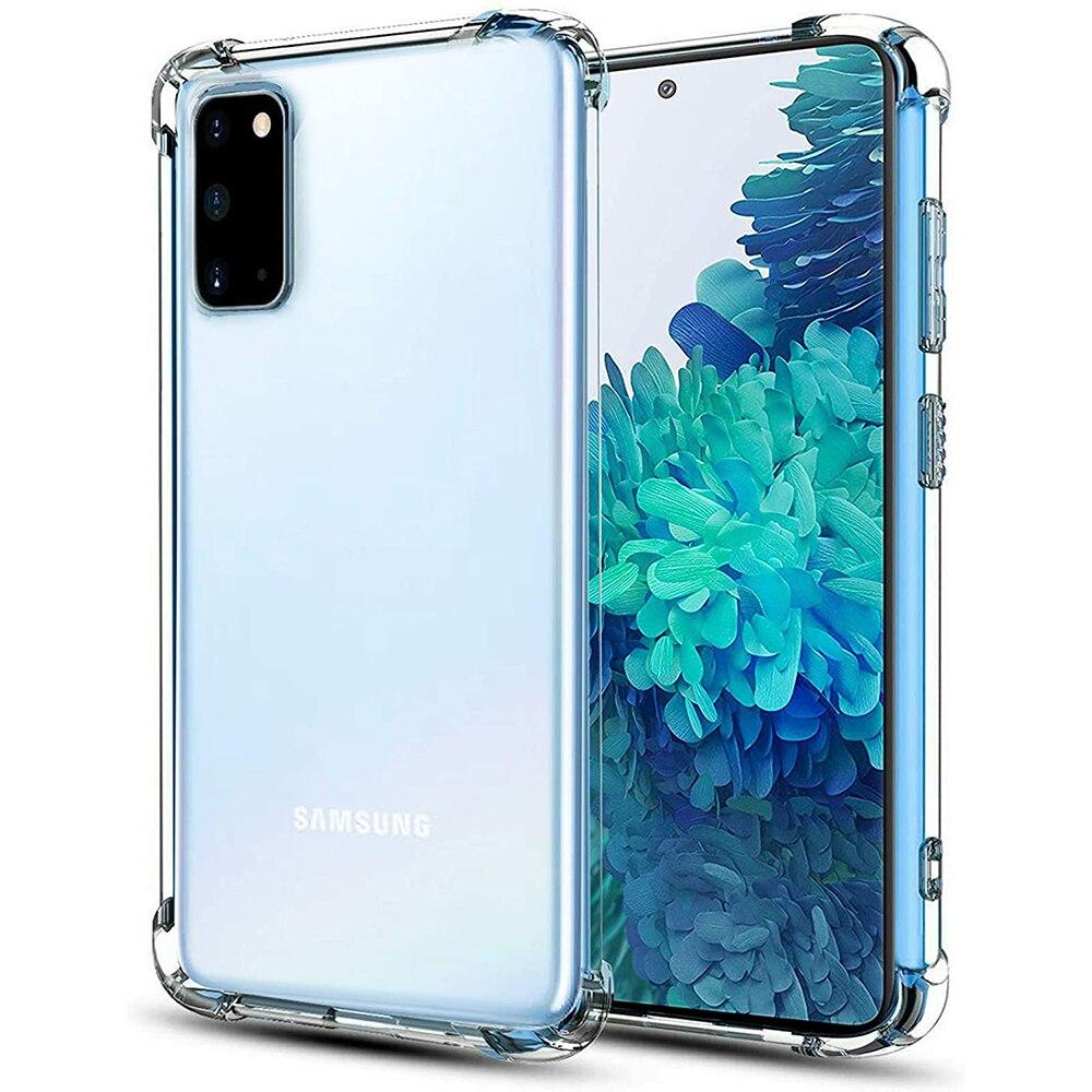 Роскошный прозрачный чехол для Samsung Galaxy S20 Fe S10 S9 S8 Plus Гибридный прозрачный ПК Жесткий Чехол для Samsung Note 10 Lite 9 8 S7