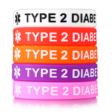 Type 1 and Type 2 Diabetes Bracelets for Women Silicone Medical 5 Pcs a Set Wristbands Jewelry 6.69″