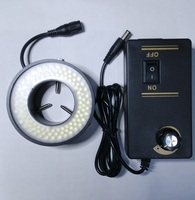 Microscope Ring Light Source Machine Vision Light Metal 41mm Inner Diameter Microscope LED Light Source with Diffuser Plate