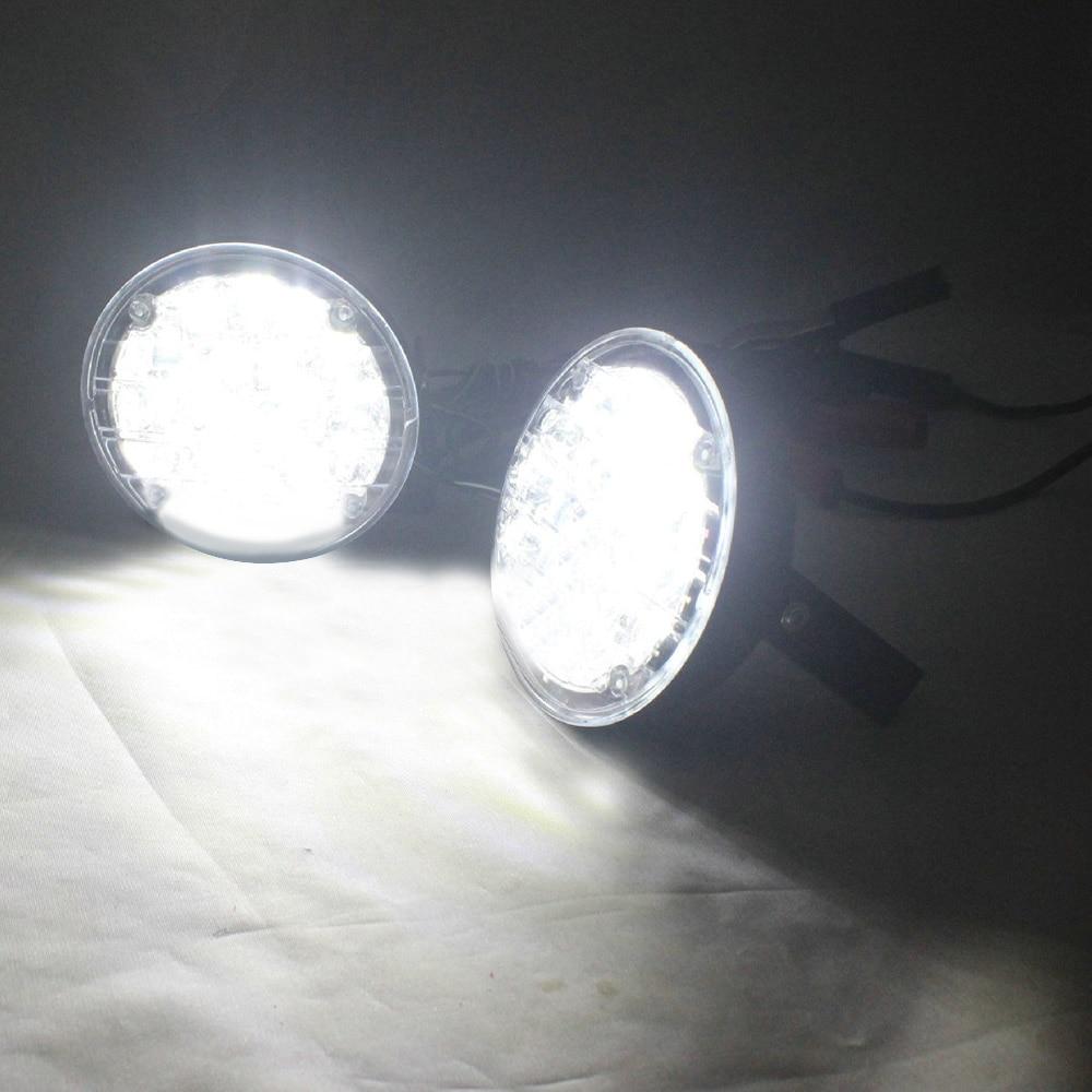 Белый 12 в 18 LED DRL Круглый дневной ходовой свет Автомобильная противотуманная фара для вождения для грузовика внедорожника ATV Мотоцикл Велоси...