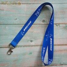MiFaVipa Weihnachten Geschenk Boeing Neck Strap Chaveiro Schlüssel Kette Blau Boeing llavero Mode Schmuckstücke Lanyard Keychain für ID Karte