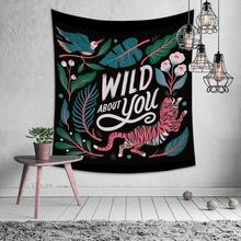 Natural Plant Animal Tiger Monkey Tapestry Hippie Mandala Wall Hanging Bedroom Polyester Travel Camping Psychedelic Tablecloth natural animal deer flamingo tapestry hippie mandala wall hanging bedroom polyester travel camping psychedelic tablecloth