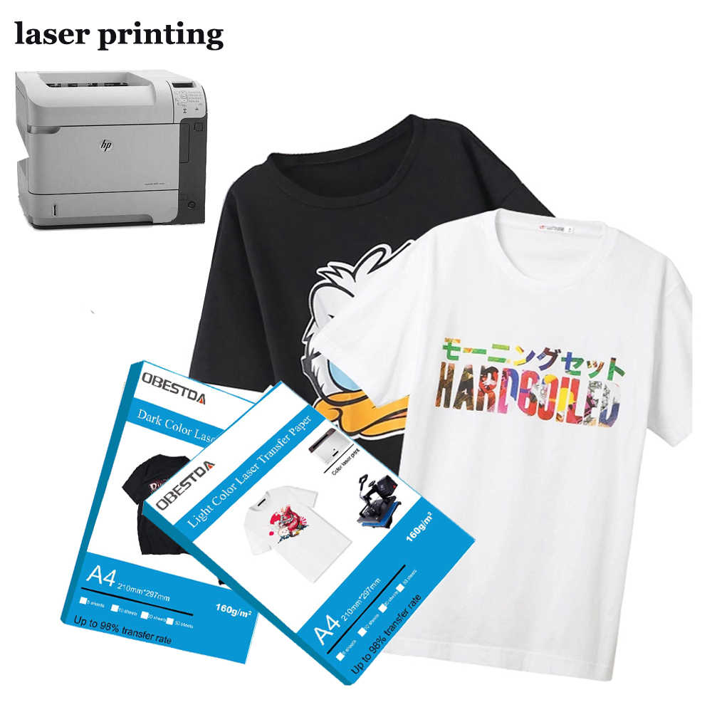 A4 Laser Heat Transfer Paper Printable Paper for Dark Color Fabric T-Shirt Cotton Table Cloth Pillow