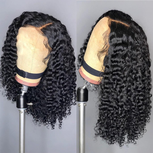 150% density Coily Curls Afro Bouncy Kinky Curly Human Hair Wig 13x4 Brazilian Lace Front Human Hair Wigs For Black Women JKO(China)