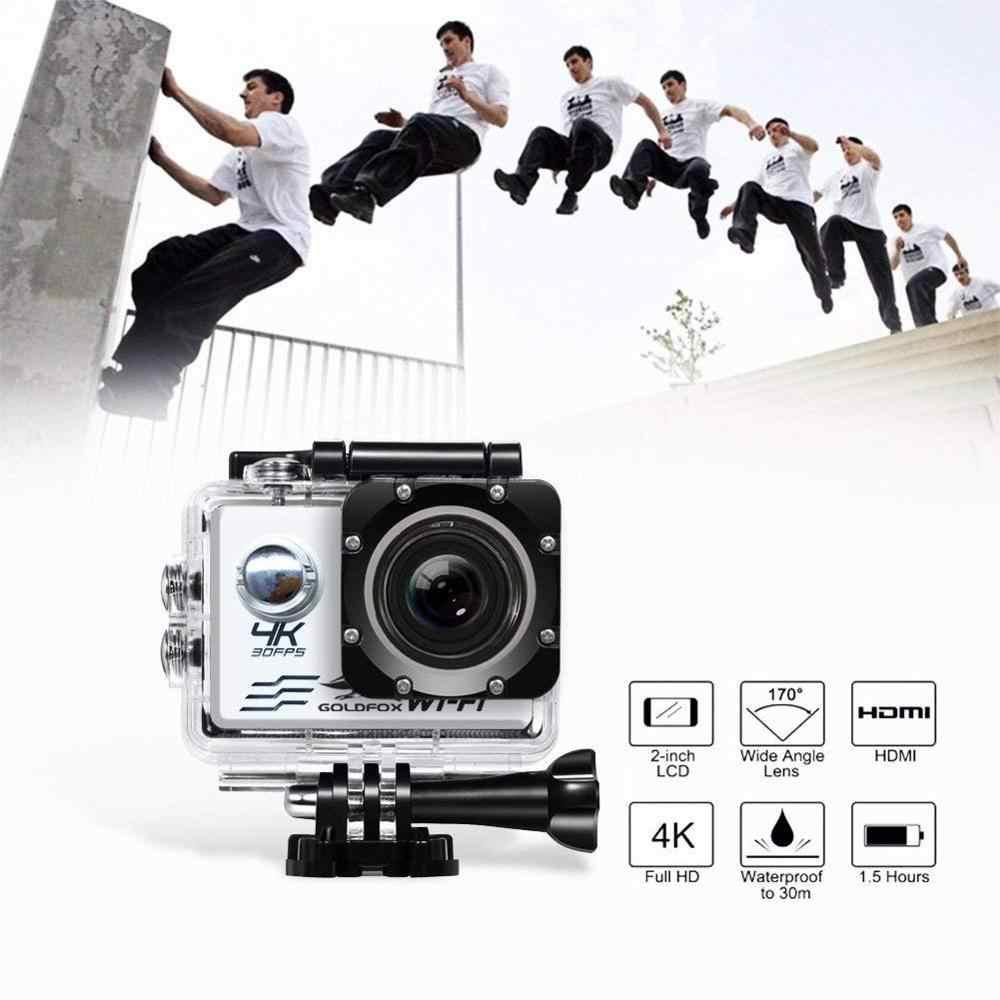 Cámara de Acción Wifi 4K Ultra HD 30fps 16MP 170D 1080P Cámara del deporte cámara Mini DVR 30M ir impermeable cámara de vídeo de deportes extremos Pro cam