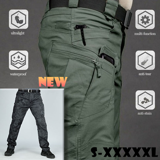 S-5XL Men Casual Cargo Pants Classic Outdoor Hiking Trekking Army Tactical Sweatpants Camouflage Military Multi Pocket Trousers