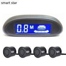 Car Automatic Parktronic LED Parking Sensor with 4 Sensors Reversing Buzzer Detector System Spare Parking Radar Monitor