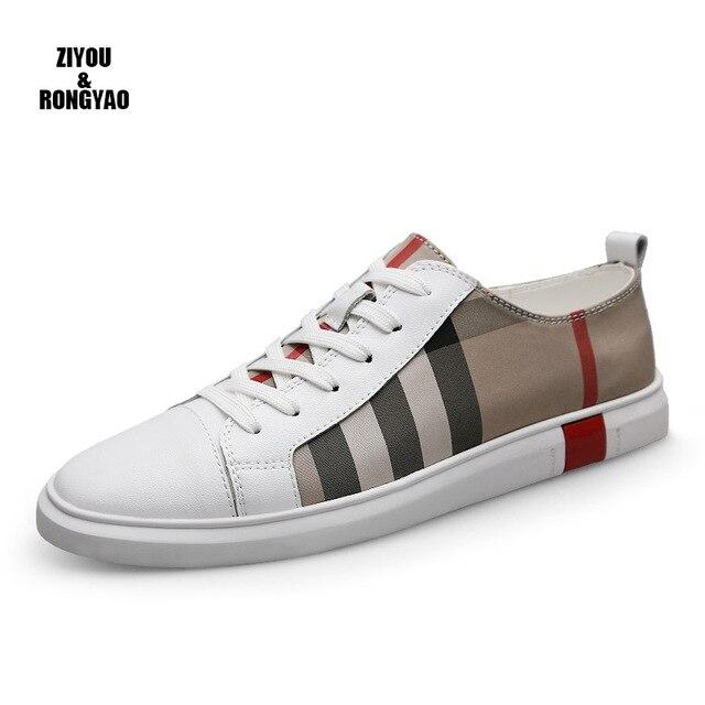 Мужские кроссовки из натуральной кожи, модные мужские туфли, люксовый бренд, мужская повседневная обувь, Мужская Дизайнерская обувь, кожаные мокасины для мужчин|Повседневная обувь|   | АлиЭкспресс