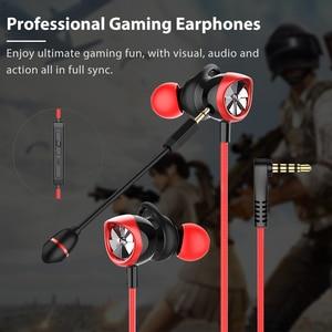 Image 2 - Langsdom Gaming auricolare In Ear 3.5mm cuffie cablate per PS4 PUBG Gamer cuffie auricolari Hi Fi con doppio microfono staccabile