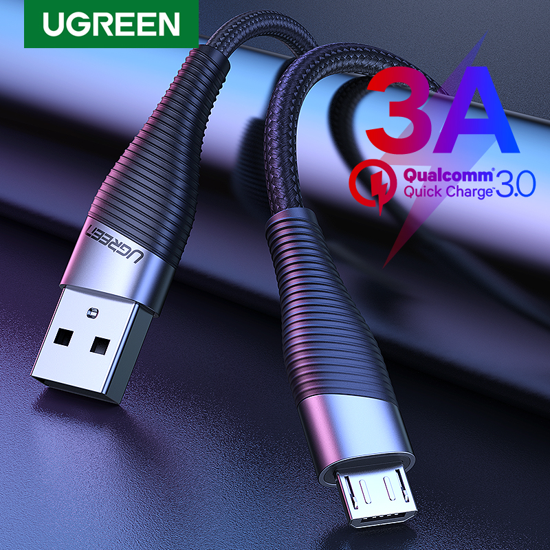 Ugreen Fast Charge Micro USB Cable for Xiaomi Redmi Note 5 Pro 4 Andriod Mobile Phone Charger Data Cable for Samsung S7 USB Cord