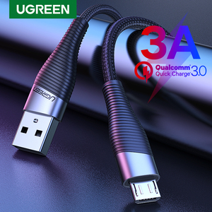Ugreen Fast Charge Micro USB Cable for Xiaomi Redmi Note 5 Pro 4 Andriod Mobile Phone Charger Data Cable for Samsung S7 USB Cord(China)
