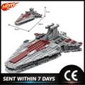 С космическим звездным принтом серии MOC-38313 военный корабль Venator-класс Cruiser конструкторных блоков, Детские кубики, сборные игрушки