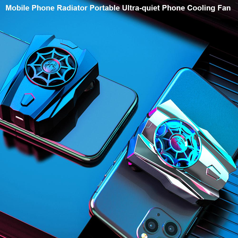 Mobile Phone Cooling Fan Portable Gamers Radiator Rechargeable Ultra-quiet Universal Sucker Cooler for Smart Phone Tablet