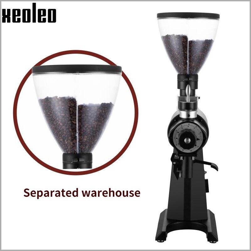 XEOLEO Kommerziellen kaffeemühle 1000W elektrische kaffee schleif maschine Flache grat espresso maschine kaffee bean fräsen maschine