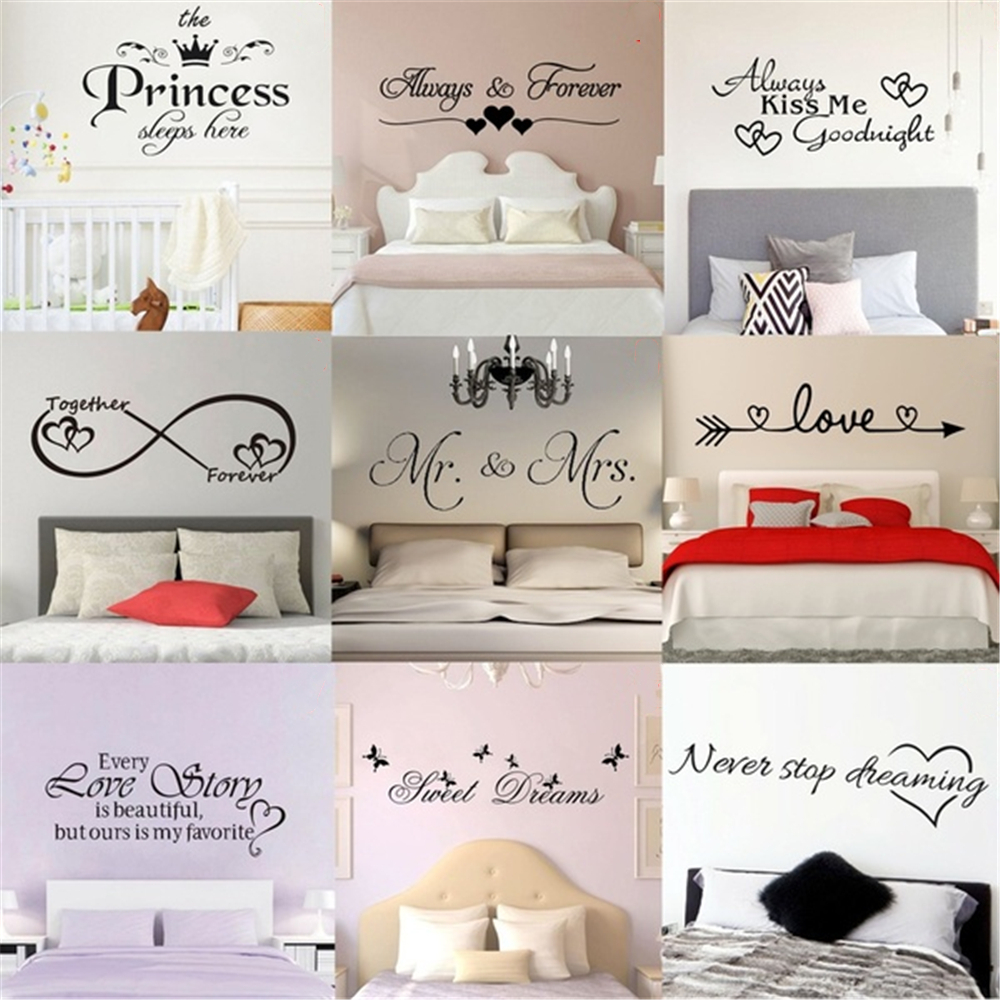 9 Style Pvc Removable Wall Stickers Inspirational Quotes Wall Art Bedroom Decorative Stickers Wall Decals Mural Home Bedroom Wall Stickers Aliexpress