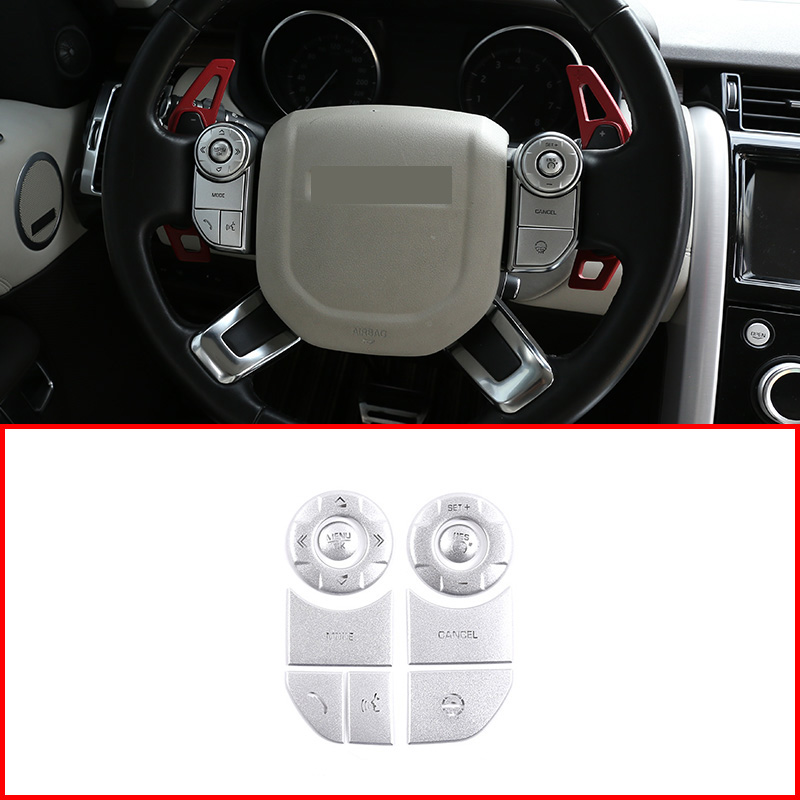 Car Interior Steering Wheel Button Protection Patch Trim Accessories For Land Rover Discovery 5 Range Rover Sport Vogue