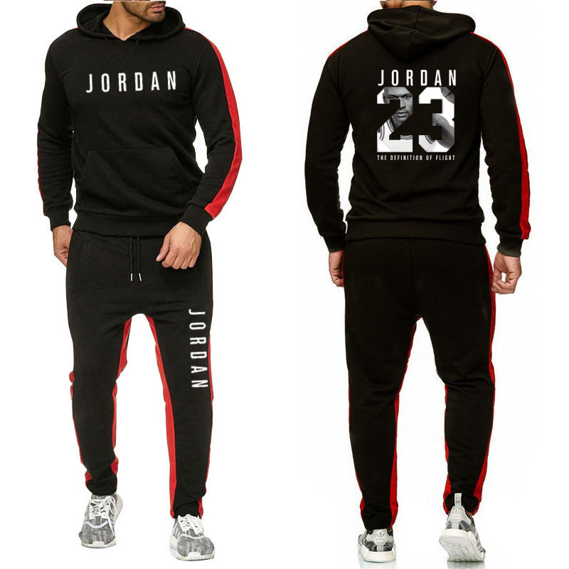 Fashion Tracksuit Casual Sportsuit Men Hoodies/Sweatshirts Sportswear JORDAN 23 Coat+Pant Tracksuit Men Set Brand Clothing