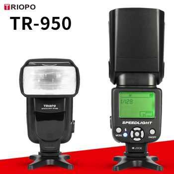 Nuovo Triopo TR-950 Flash Light Speedlite Universale per Fujifilm Olympus Nikon D3400 Canon 650D 550D 450D 1100D 60D 7D 6D telecamere