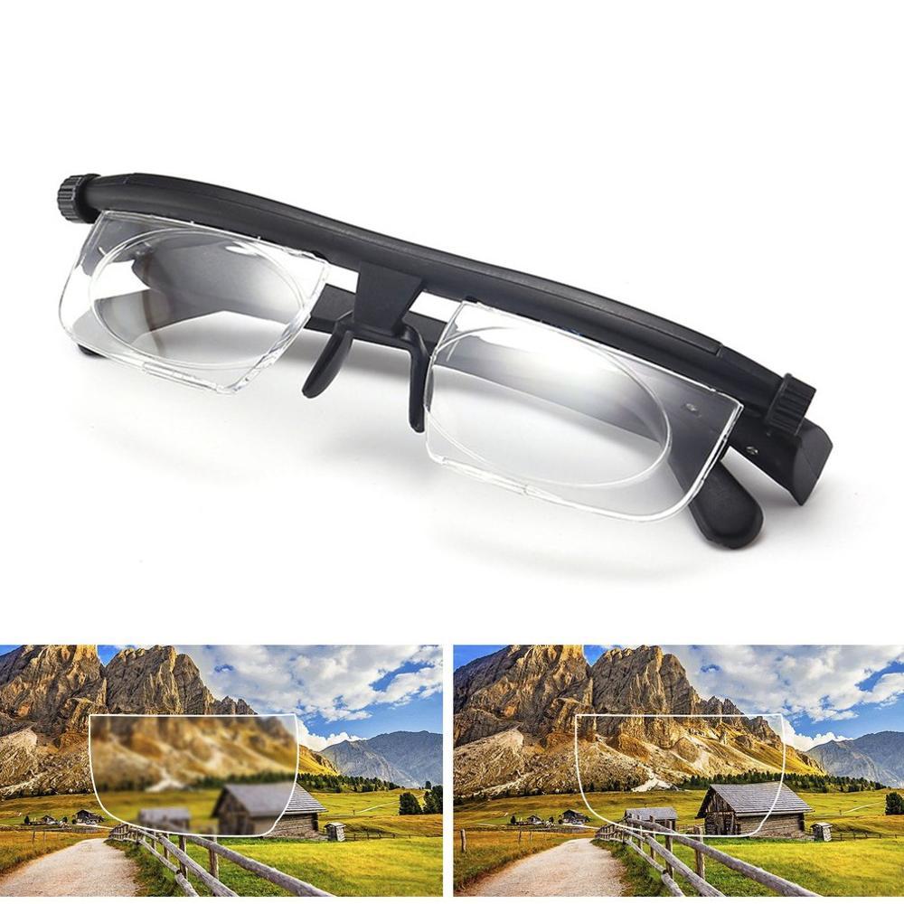 Adjustable Glasses Non-Prescription Lenses For Nearsighted Farsighted Driving Unisex Variable Focus Glasses