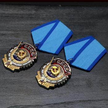 2 sztuk partia rosyjski radziecki ORDER czerwonego sztandaru medali pracy CCCP Medal tanie i dobre opinie Patriotyzmu Europa RUSSIA Metal