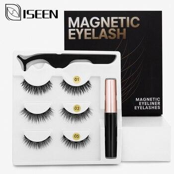 Magnetic Eyelashes 3D Mink Fake Eyelash Magnet Eyeliner False Eyelash Waterproof Liquid Long Lasting Eyelash Extension Makeup 1