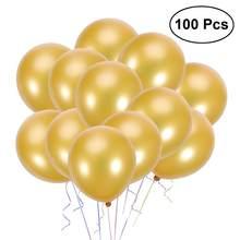 Conjunto de balões de látex 100 pérolas, balões de festa de aniversário, decorações de celebração (dourado), Polegada peças