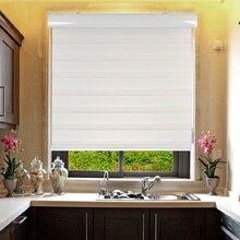 Стандартные Заказные элегантный дизайн рулонные шторы с зебровым принтом