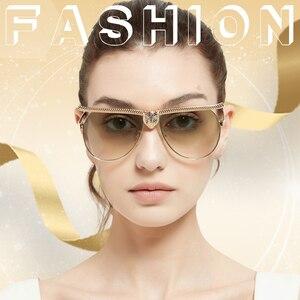 Image 2 - MEESHOW Women Fashion Sunglasses 2020  Luxury High Quality Cat Eyewear Rhinestone Oversize Frame Sun Glasses