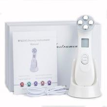 5в1 РЧ и EMS, радио мезотерапия, Электропорация, ручка для красоты лица, радиочастотный светодиодный фотон, средство для омоложения кожи, удаления морщин